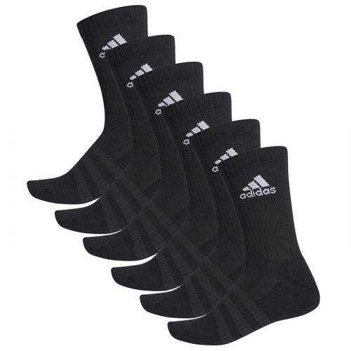Calcetines Adidas Cushioned negros crew