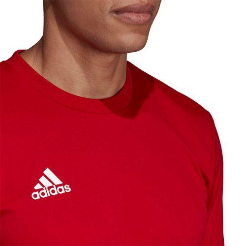 camiseta adidas team roja closeup