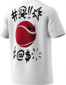 camiseta grafica adidas ss blanca