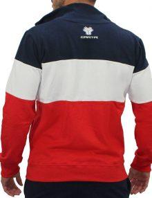 chaqueta cartri jeremy azul blanco y rojo