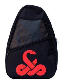 mochila bandolera vibora roja