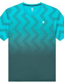 camiseta k-swiss hypercourt print azul degradado