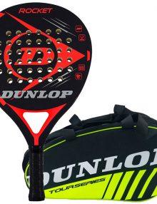 Pala Dunlop Rocket Roja + Paletero
