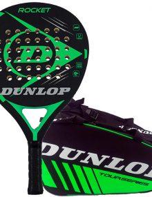 Pala Dunlop Rocket Verde + Paletero