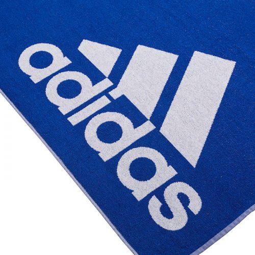 toalla adidas grande azul logo