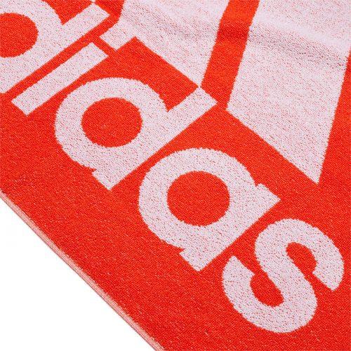 toalla adidas grande naranja logo