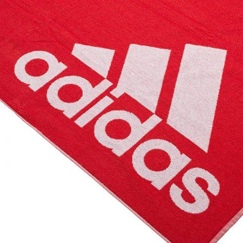 toalla adidas grande roja logo