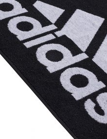 toalla adidas negra logo