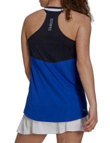 camiseta adidas club tank navy blue back