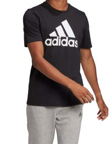 camiseta adidas logo negra