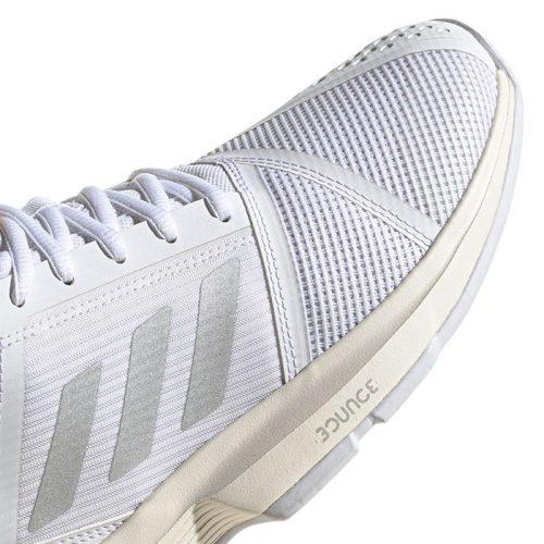 zapatillas adidas courtjam bounce mujer blancas