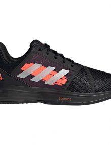 zapatillas adidas courtjam bounce clay black perfil