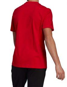camiseta adidas essentials roja 2021
