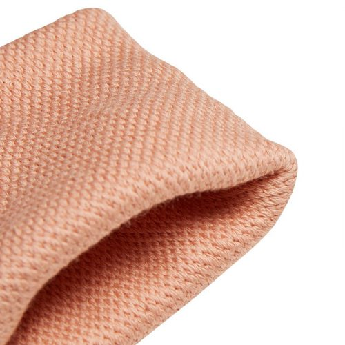 muñequeras adidas pequeñas rosa claro closeup