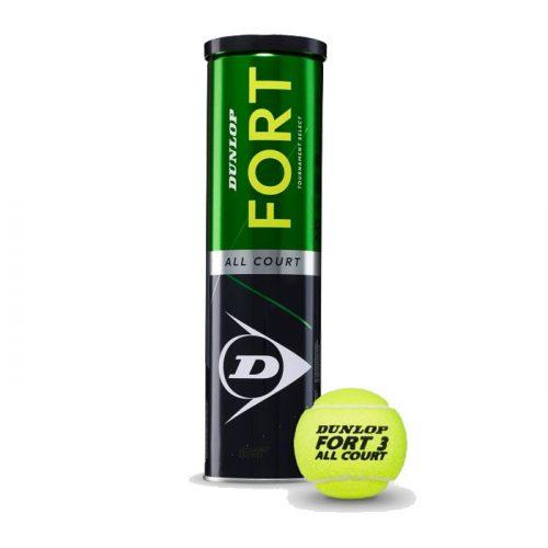 Bote de 4 pelotas Dunlop Fort All Court