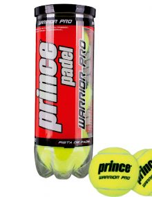 Bote de 3 pelotas Prince Padel Warrior Pro